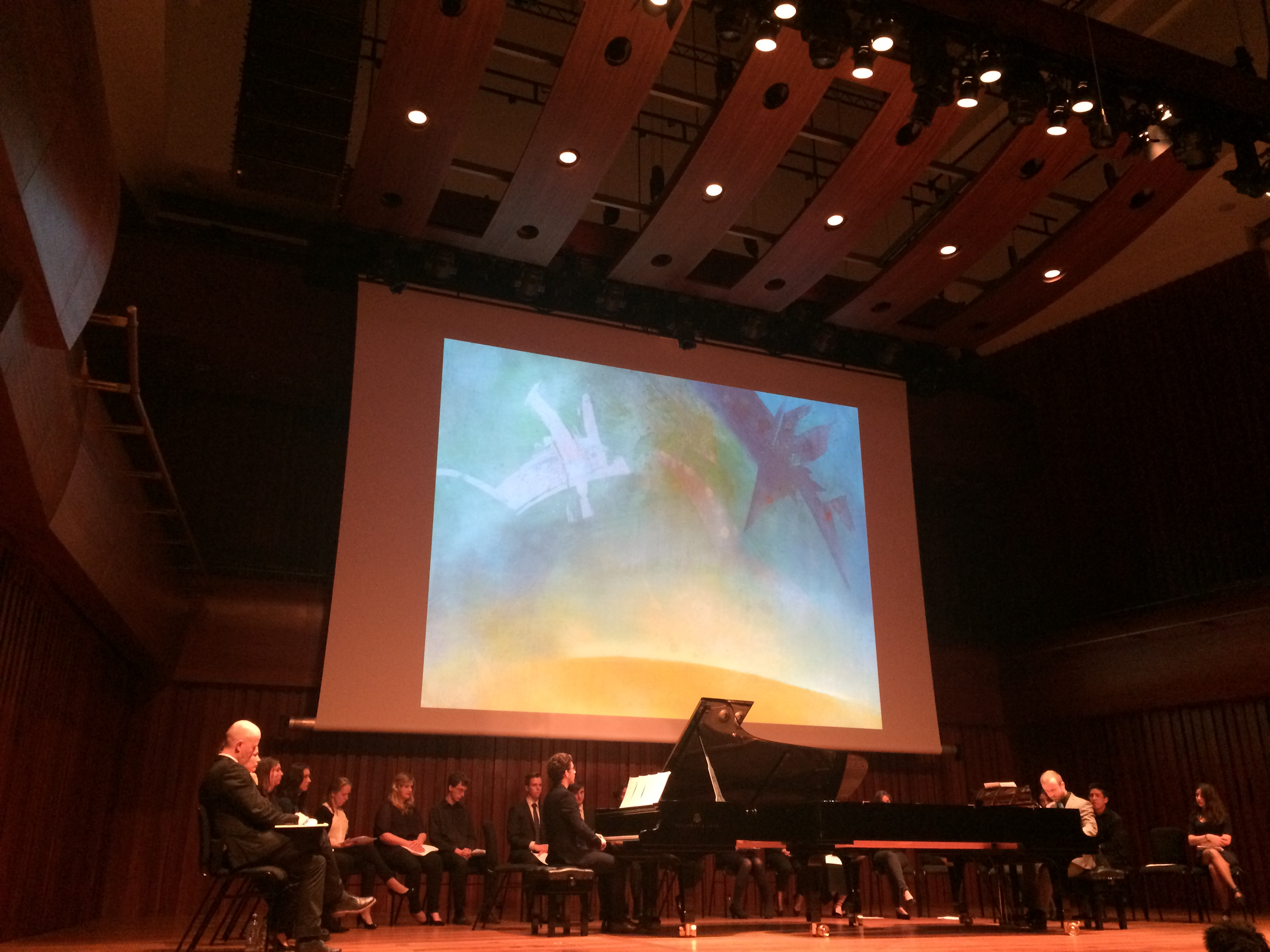 Students at GSMD perform new music inspired by the poetic and artistic commissions of Messiaen 2015